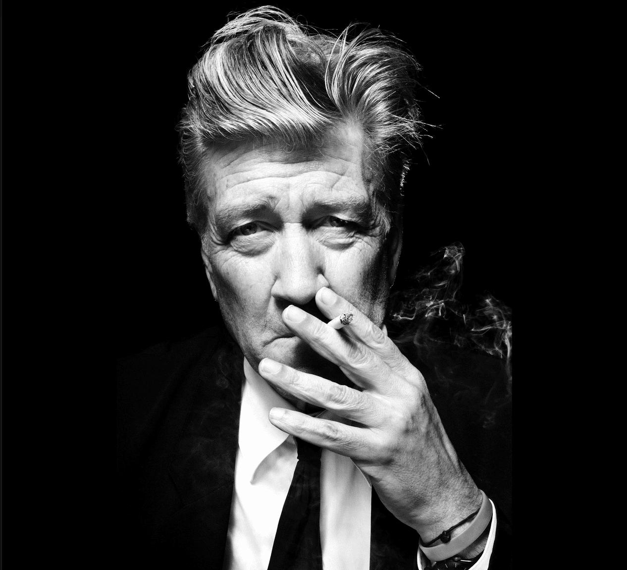 David Lynch smoking