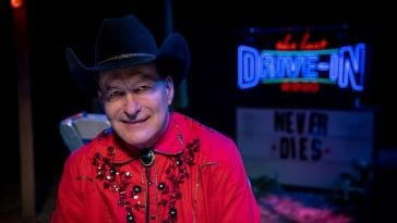 "Joe Bob Briggs hosts the Shudder series ""The Last Drive-In"""