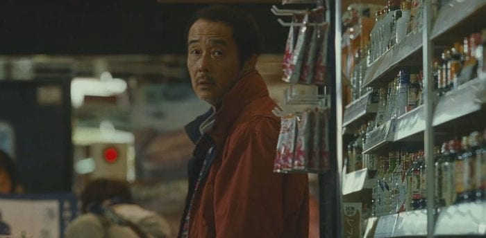 Lily Franky plays Osamu Shibata, a illsuited patriarch to a makeshift family in Shoplifters