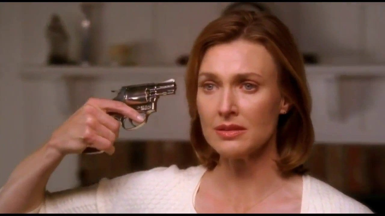 Brenda Strong as Mary Alice Young in the pilot episode of Desperate Housewives