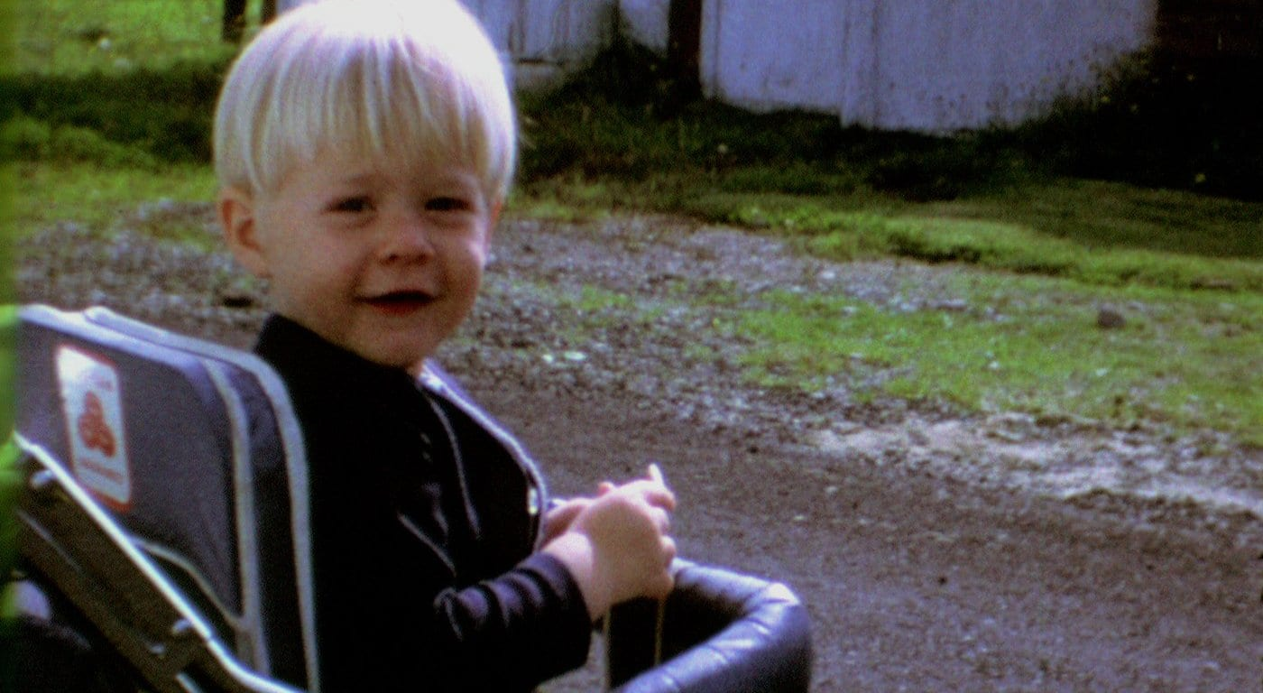 Kurt Cobain as a toddler from Montage of Heck