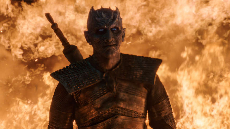 The Night King survives dragon fire in Game of Thrones The Long Night