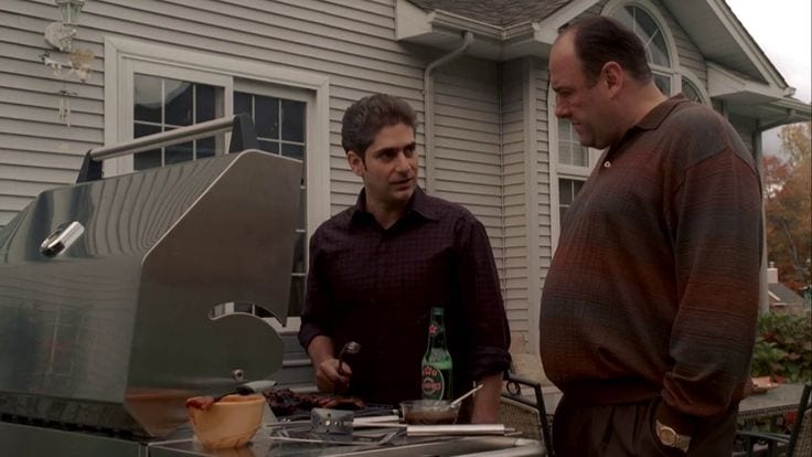 Tony and Christopher from HBO's The Sopranos