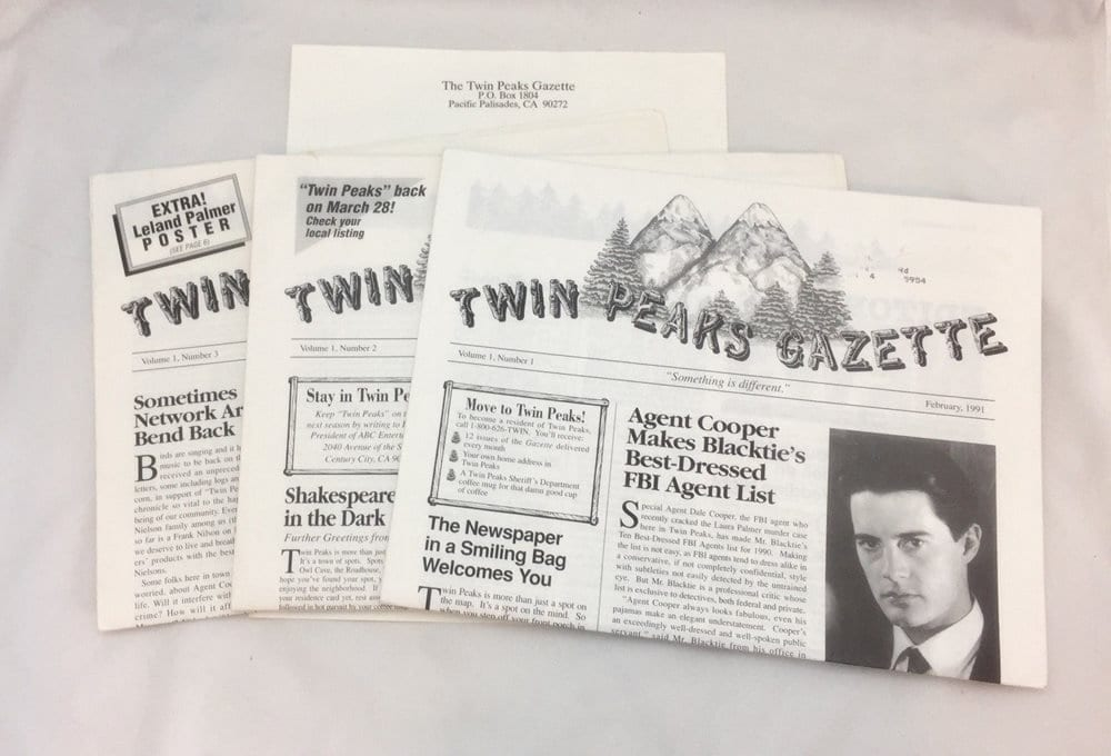 Twin Peaks Gazette issues