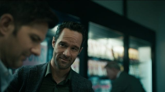 "Chris Diamantopoulos is a nosy passenger in The Twilight Zone Episode 2 ""Nightmare at 30,000 Feet"""