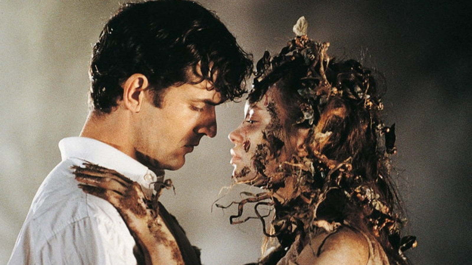Cemetery Man (Rupert Everett) makes love to the reanimated corpse of a woman who has recently come back from the dead.