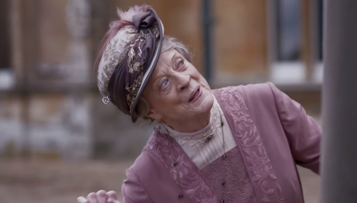 Dame Maggie Smith as the Dowager Countess in the Downton Abbey movie