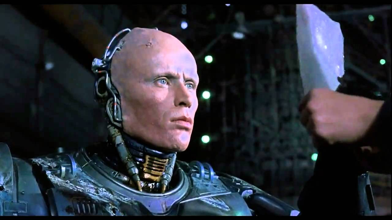 In the end, Murphy lives inside of Robocop and it is the human in him that wins out.