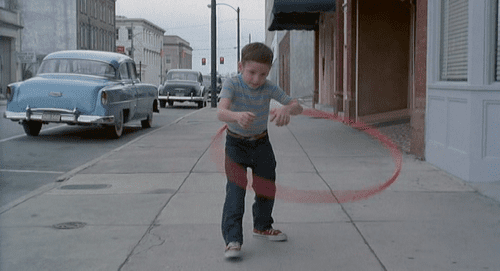 The hula hooping kid in the Hudsucker Proxy is amazing.