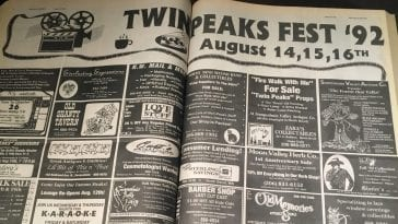 Valley Record newspaper Twin Peaks Fest 92 spread