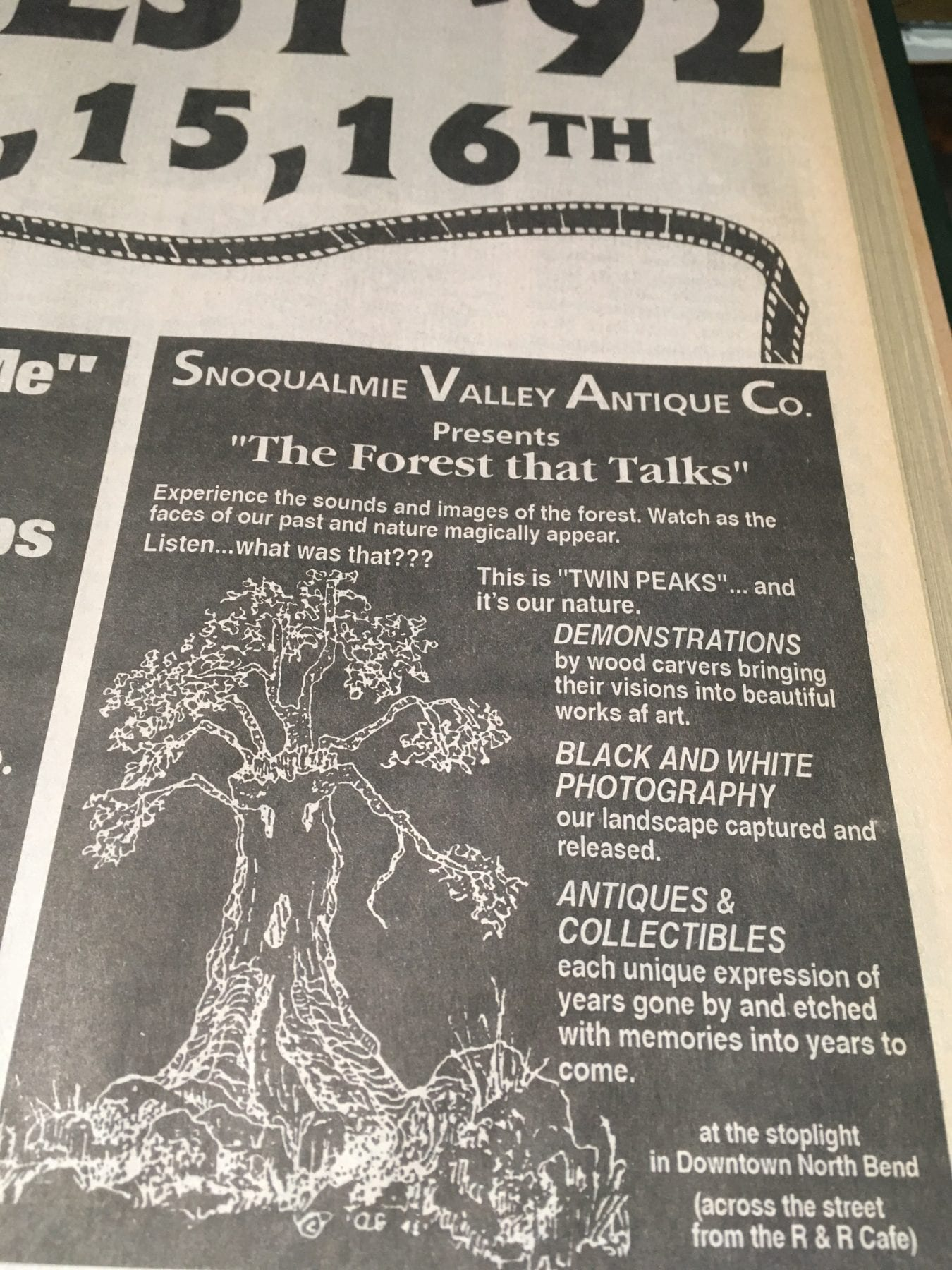 Advert for The Forest That Talks