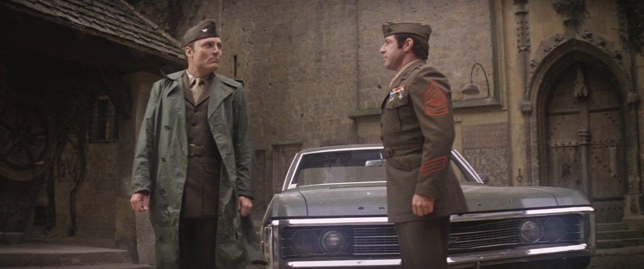 Psychiatrist Cl. Kane (Stacey Keach) arrives to treat his new patients in The Ninth Configuration.