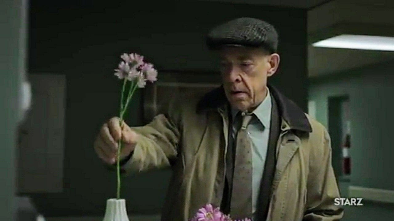 Counterpart - Howard drops off a flower at the nurses' station