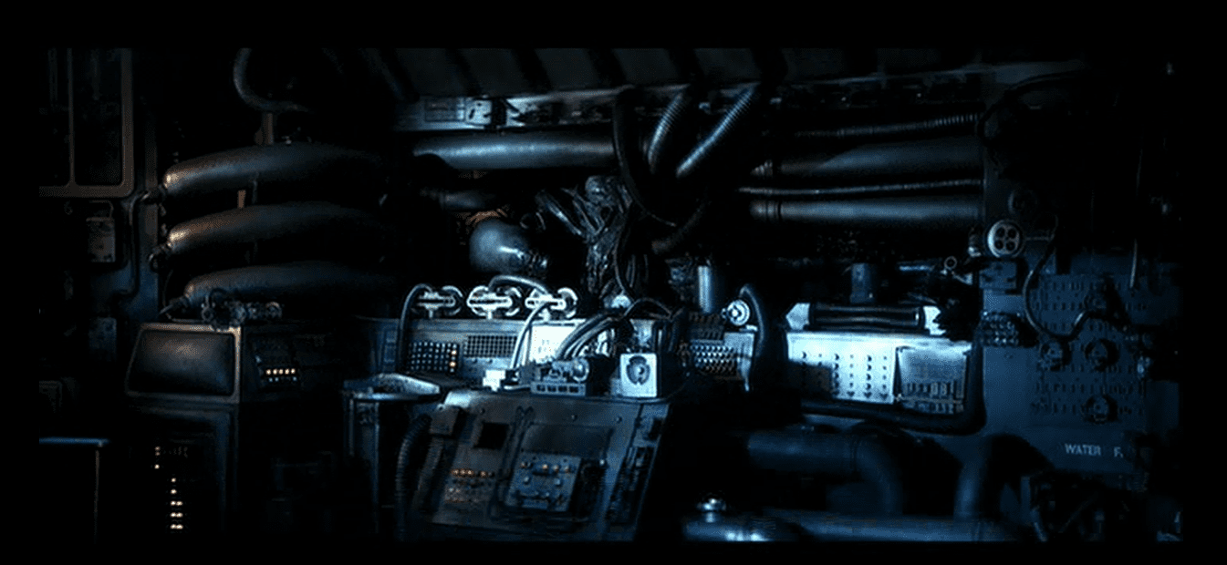 The alien has gotten onto Ripley's escape pod at the end of Alien