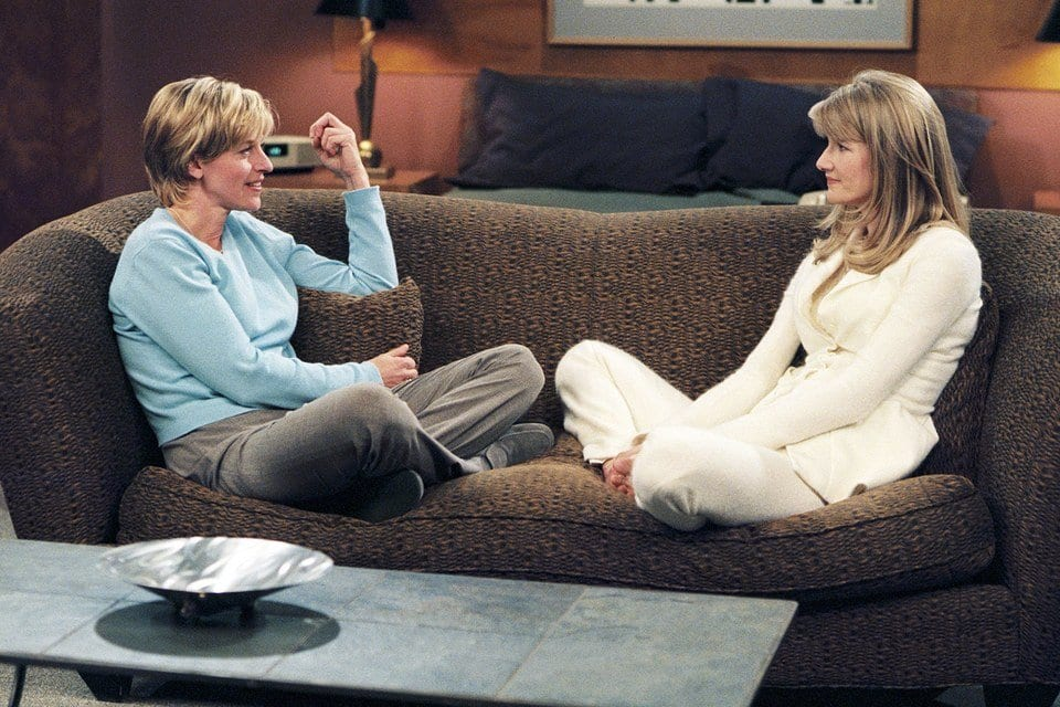 Ellen DeGeneres and Laura Dern as Ellen & Susan in the sitcom, Ellen