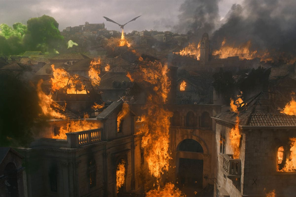 Drogon bruns King's Landing in Game of Thrones