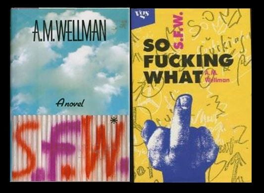 Book covers for novel S.F.W.
