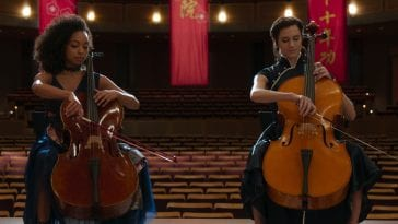 Elizabeth (Logan Browning) and Charlotte (Allisono Williams) create a twisted beautiful sympony together in The Perfection.