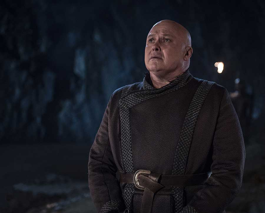 "Varys faces a fiery death in Game of Thrones ""The Bells"""