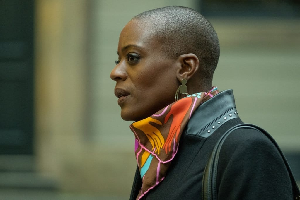 T'Nia Miller as Celeste Lyons in the BBC & HBO show Years and Years