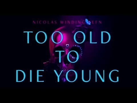 "The words ""Too Old to Die Young"" appear over an image of a skull in a promotional graphic for the show"