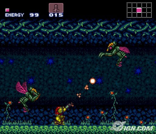 Super Metroid looks similar to Mario with paths to jump on, and enemies to defeat, but here you can move all over and there is no finish line to be had.