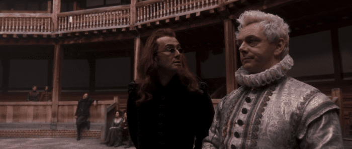 "A little celestial intervention from Crowley and Aziraphale made sure Hamlet was a success in Good Omens' ""Hard Times"""