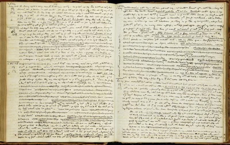 Pages of Anne Lister's diary