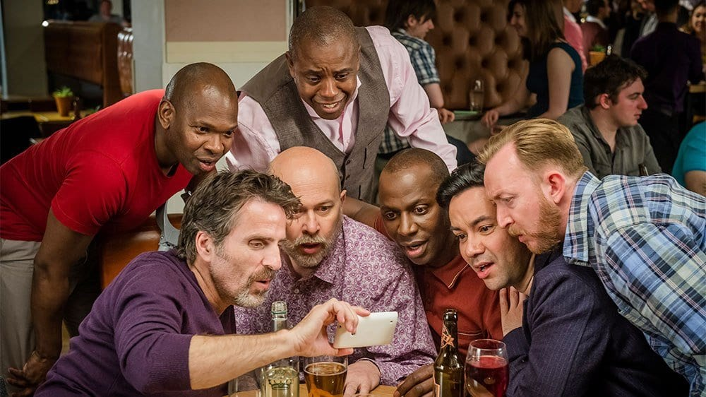 Henry, Lance and friends in Manchester in Cucumber