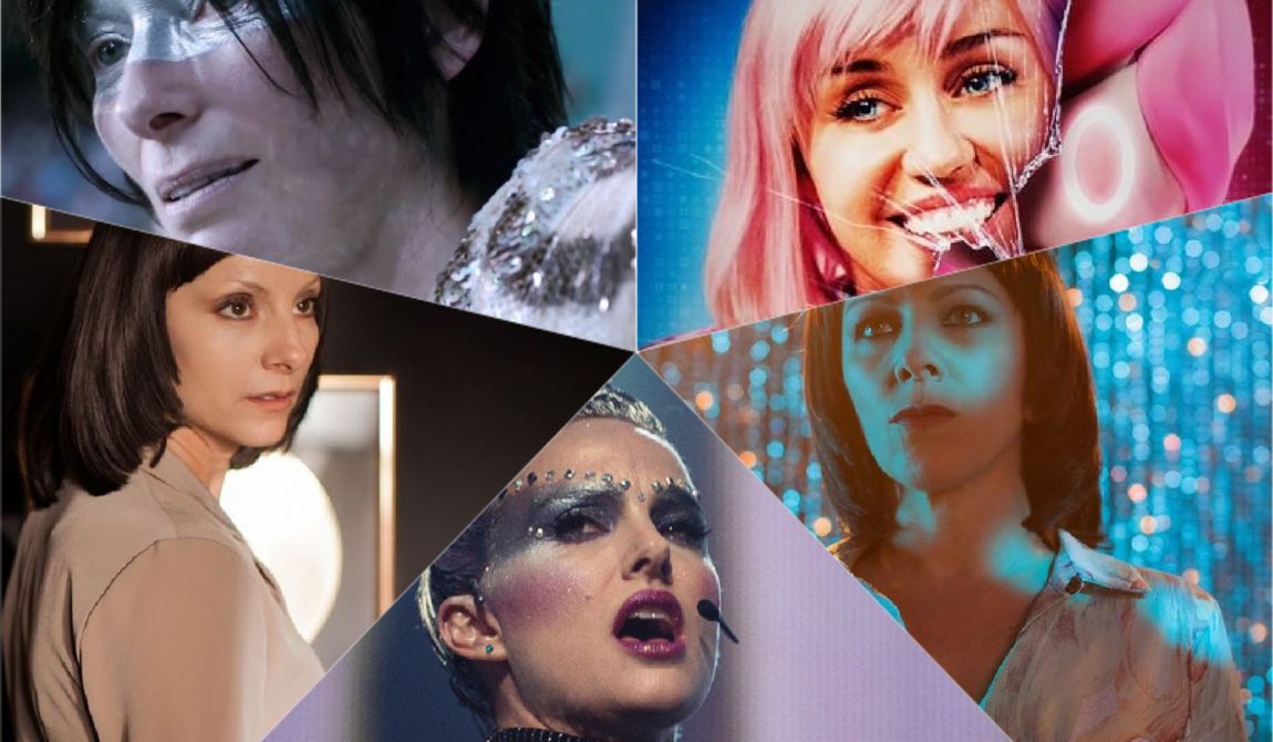 ComCollage of notable female singers in cinema