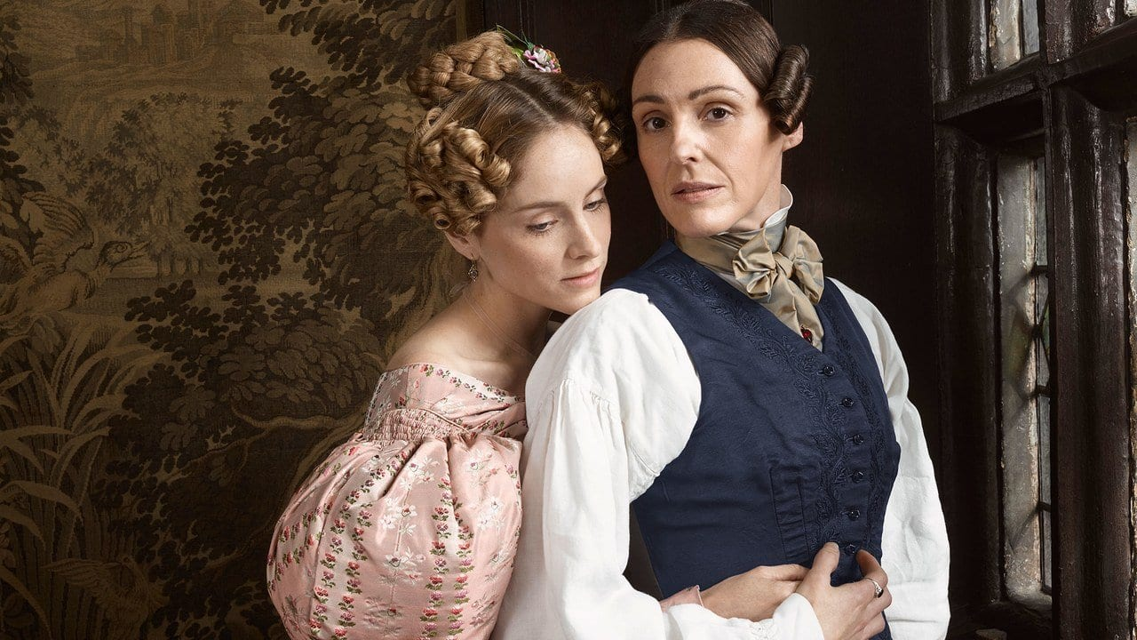 Sophie Rundle and Suranne Jones in a promotional photo for Gentleman Jack.