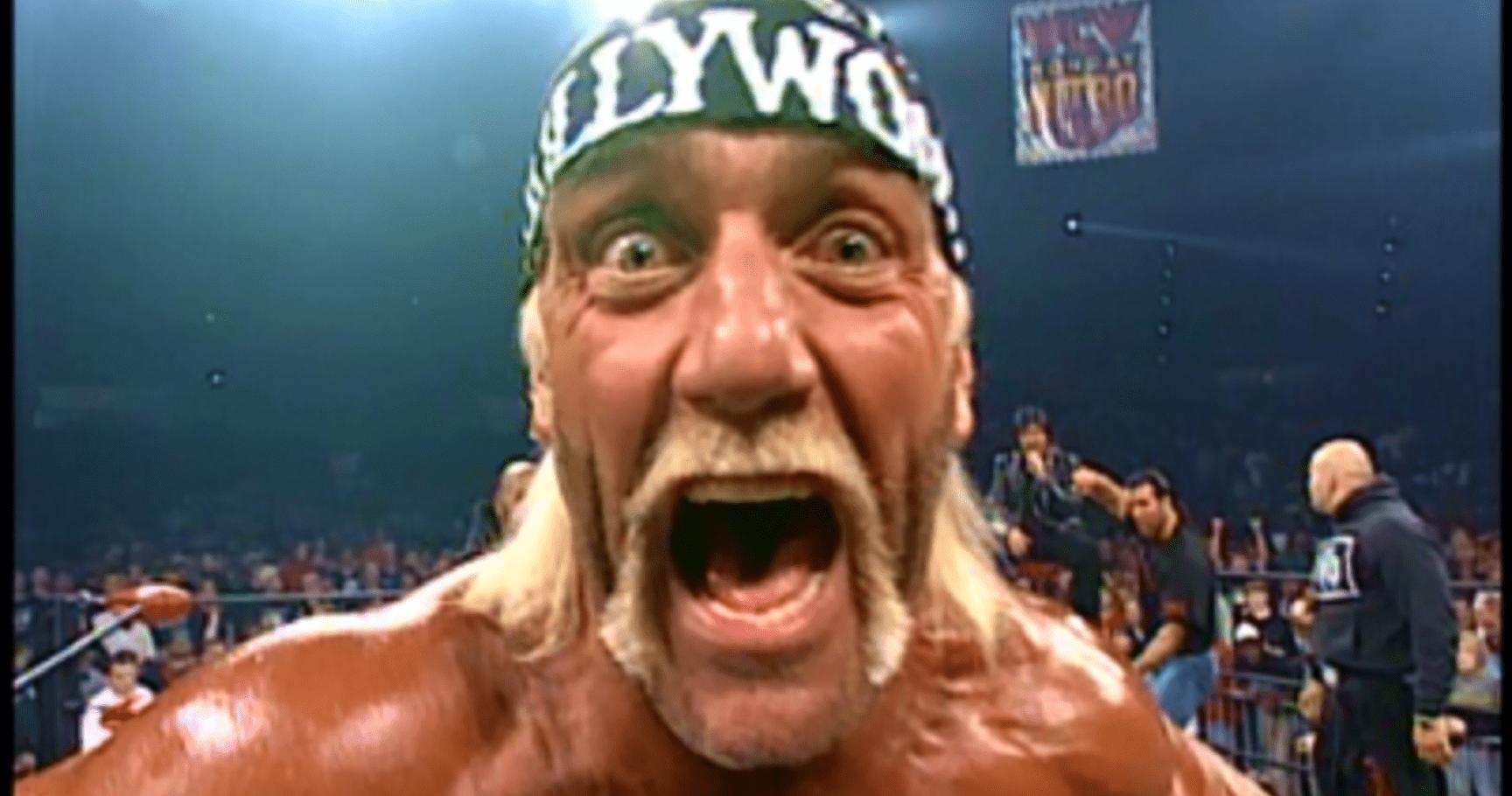 Hulk Hogan mugs for the camera.