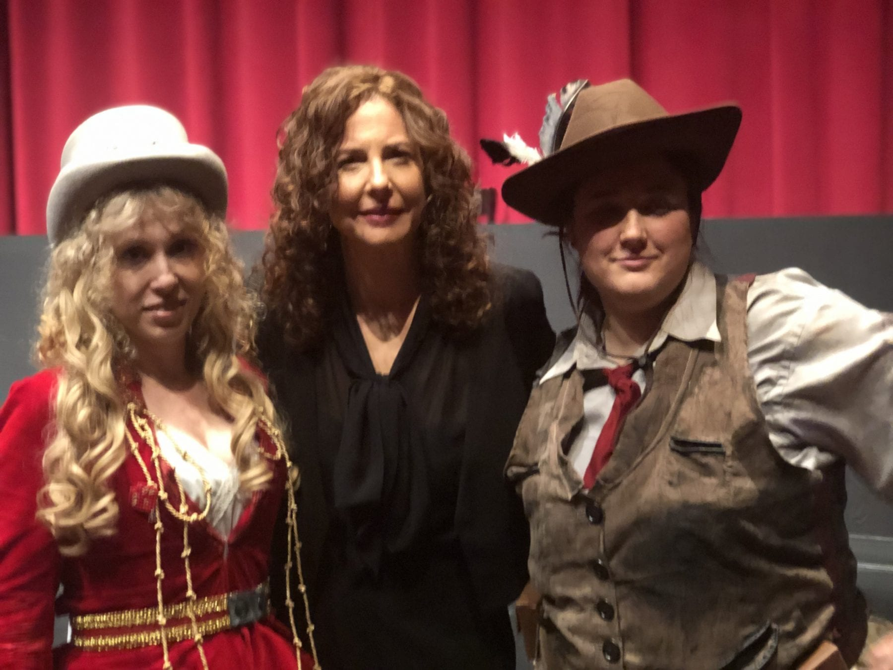 Cat Smith (cosplayer), Robin Weigert, and Katie Bienvenue (cosplayer)