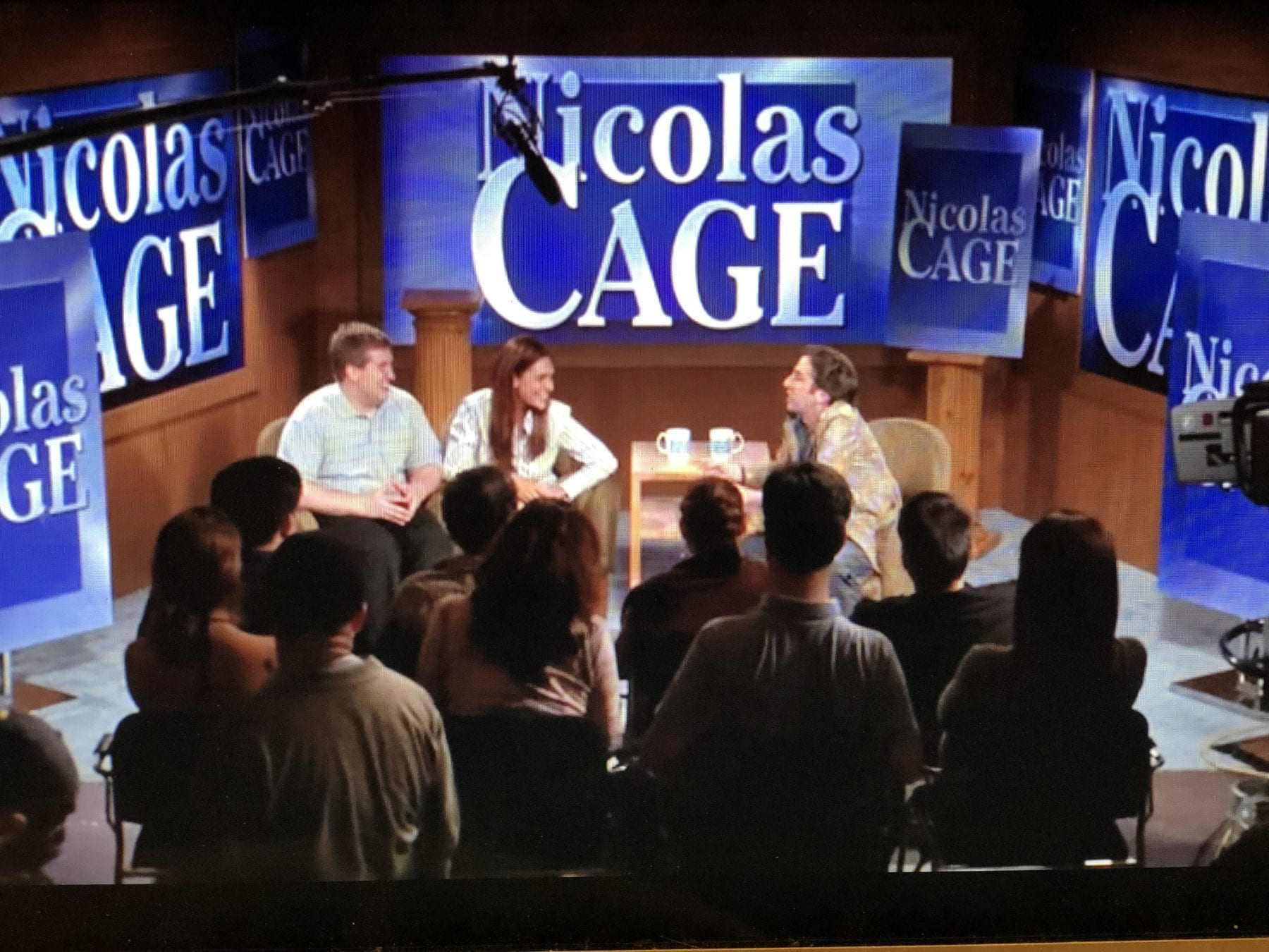A sketch in which Nicholas Cage is a talk show host