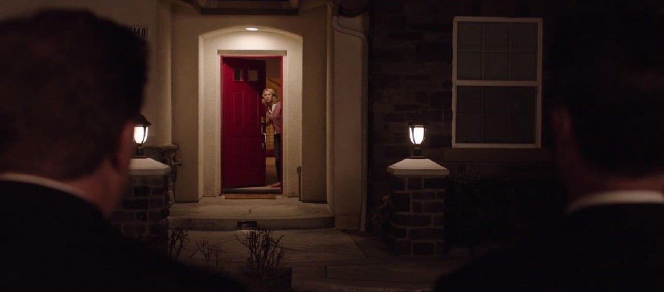 Janey-E at red door of Lancelot Court Home Twin Peaks (2017)