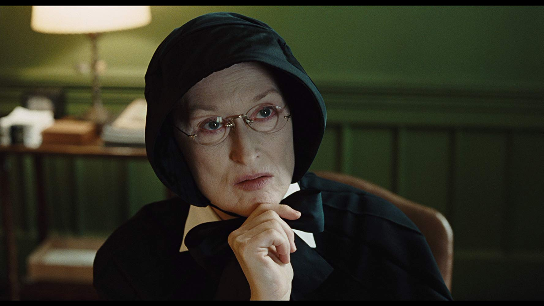 Meryl Streep as Sister Aloysius in the 2008 movie Doubt