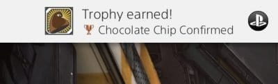 Chocolate chip trophy earned in Borderlands 2