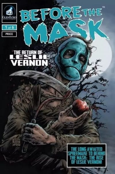 Cover art from Issue #1 of Before the Mask: The Return of Leslie Vernon comic book
