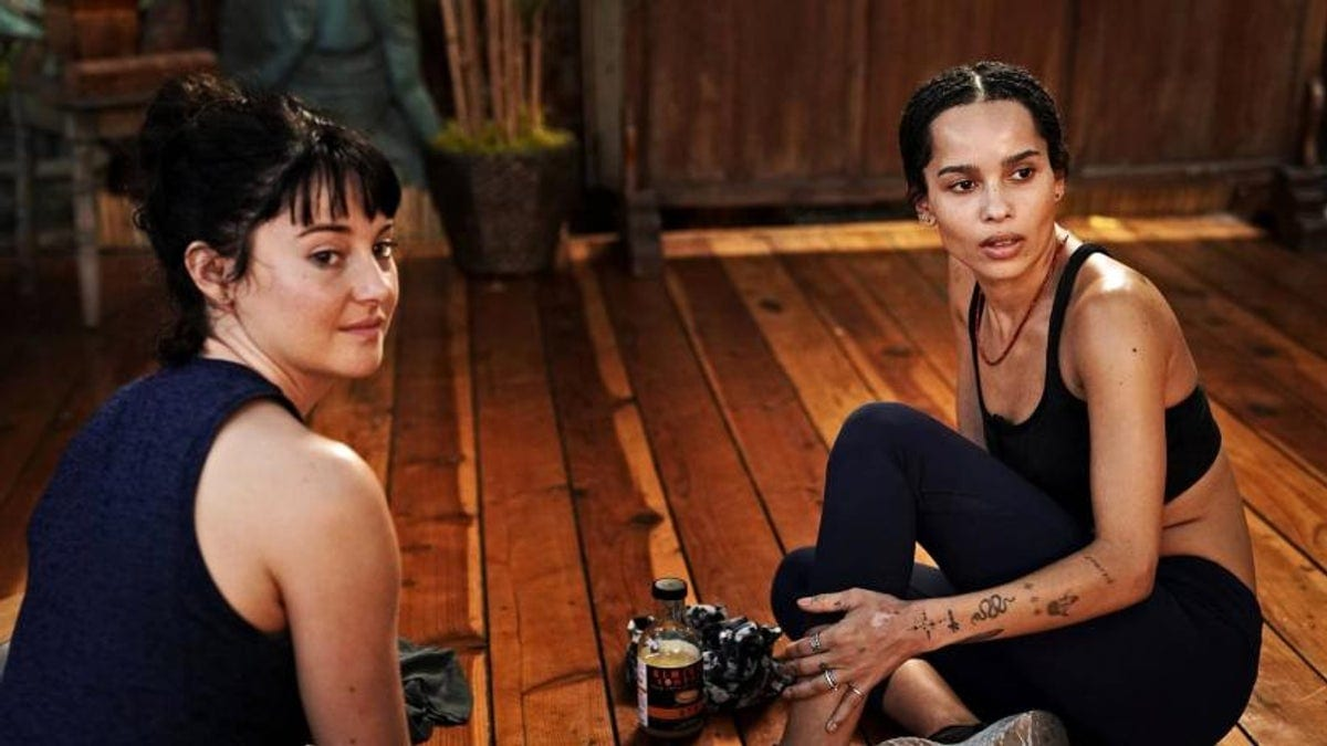 Shailene Woodley and Zoe Kravitz as Jane and Bonnie in season two of Big Little Lies