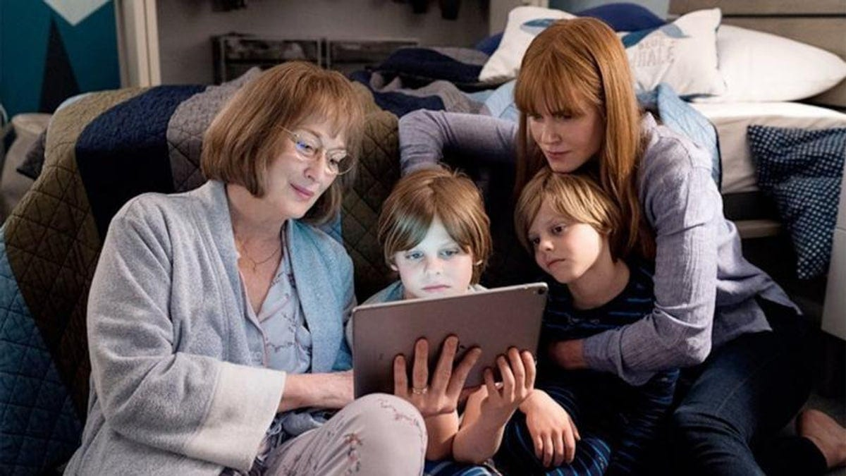 Meryl Streep and Nicole Kidman as Mary Louise and Celeste in Big Little Lies