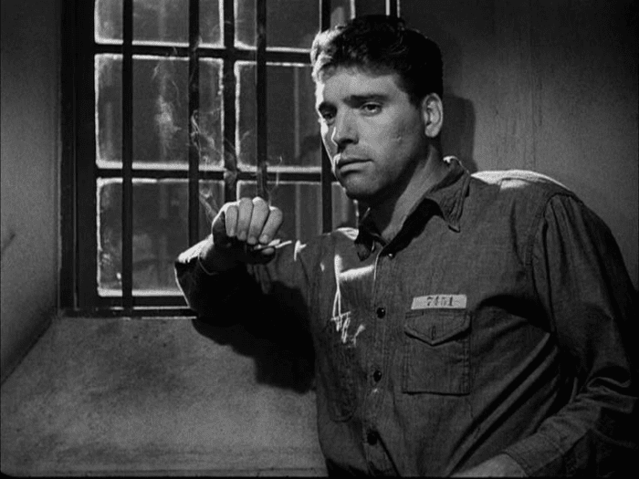 Burt Lancaster is Joe Collins in the film noir prison drama Brute Force