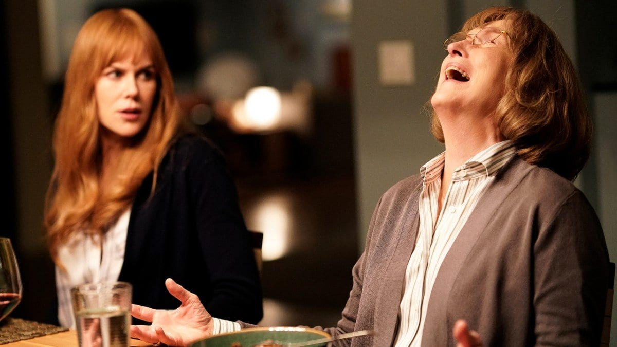 Nicole Kidman and Meryl Streep as Celeste and Mary Louise in the season two premiere of Big Little Lies