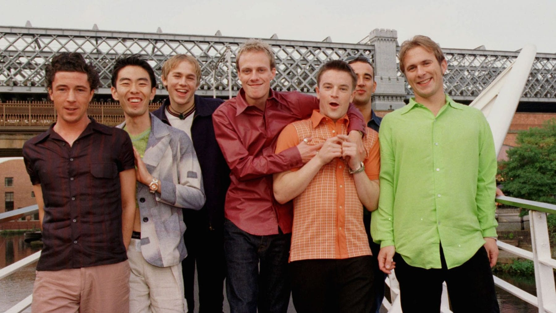 The cast of the 1999 Channel 4 show Queer As Folk