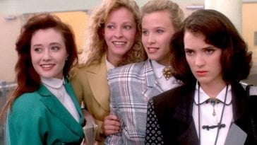 Heathers (1988) is a dark comedy that questions high school's lack of critical thinking.