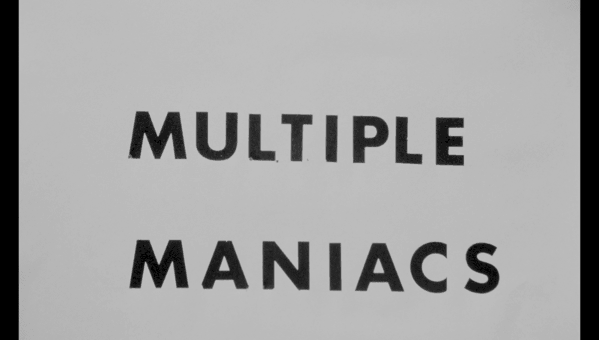 Multiple Maniacs title card