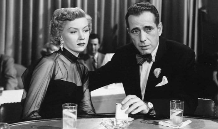 Gloria Grahame and Humphrey Bogart in A Lonely Place