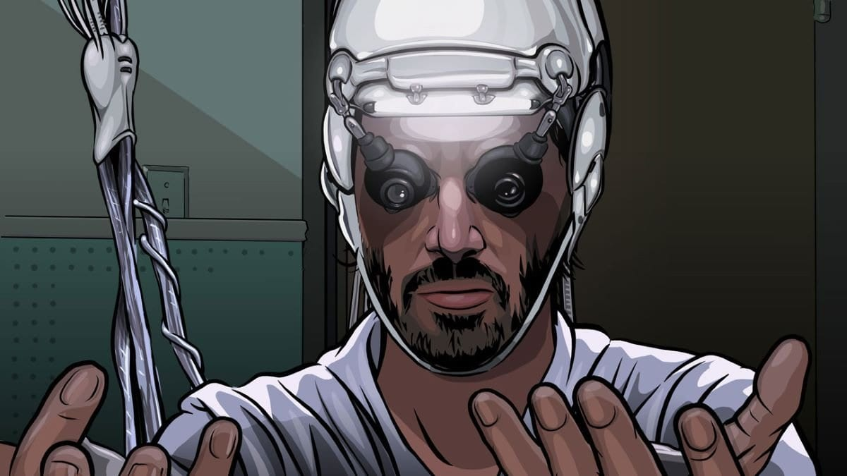 Bob Arctor begins to deteriorate in A Scanner Darkly.