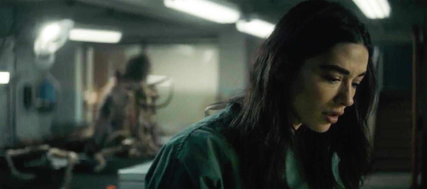 Dr. Abby Arcane (Crystal Reed) should probably turn around; her autopsy subject seems to having some difficulties.
