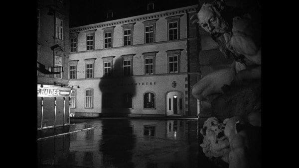The bombed out streets of Vienna add a level of menace when shadows come in Carol Reed's The Third Man