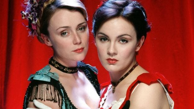 Rachael Stirling and Keeley Hawes in 2001's Tipping the Velvet